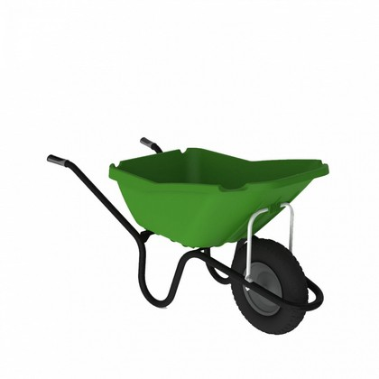 Green Pick Up Wheel Barrow 110L