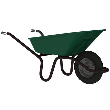 Garden Barrow 90L Green Poly